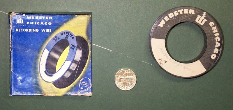 Reel of recording wire